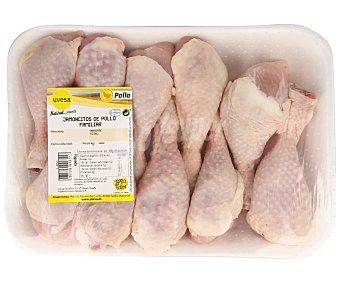 Bandeja de jamoncitos de pollo con piel, familiar 1.300 gramos aproximados