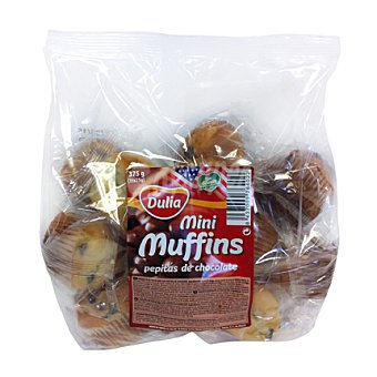 Dulia Mini muffins con pepitas de chocolate 375 g
