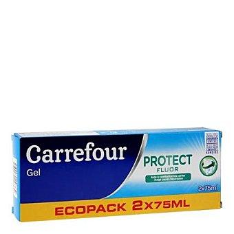 Carrefour Dentífrico gel bi fluor Carrefour Pack de 2 unidades de 75 ml