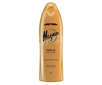 MAGNO gel de baño gold con regalo de pasta dental 2 en 1 Licor del Polo interdental frasco 75 ml botella 550 ml