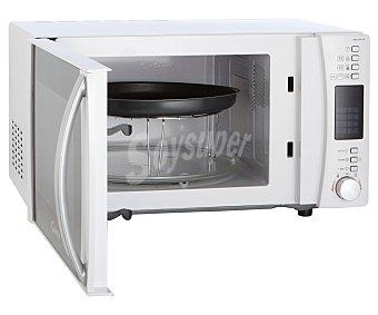 CANDY Microondas con grill, color blanco, capacidad 25 litros, potencia: 900w, grill: 1000w, ancho: 51,3cm alto: 30,5cm 25 litros