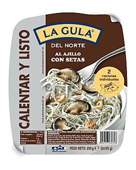 Angulas Aguinaga Gulas al ajillo con setas pack 2 raciones 125 g