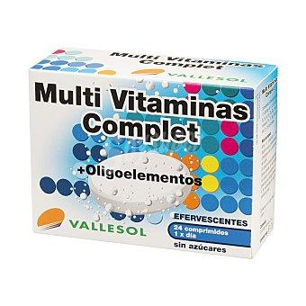 Vallesol Multi Vitaminas Complet con Oligoelementos que refuerzan tu organismo sin azúcares efervescentes Caja 24 comprimidos
