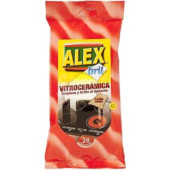Alex Bril limpia vitroceramica en toallitas paquete 20 unidades Paquete 20 unidades