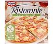 Pizza sin gluten, son salsa de tomate, jamón cocido ahumado y queso 370 g Ristorante Dr. Oetker