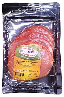 Montesano Cerdo lomo adobado filetes fresco Bandeja 350 g peso aprox. (5 unidades)