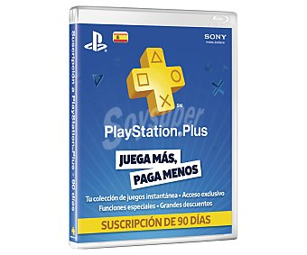 Sony Tarjeta de suscripción Playstation Plus, 90 días 1 Unidad