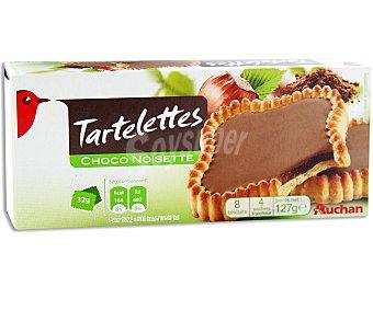 Auchan Tartaletas de galleta con relleno de chocolate y avellanas 127 gr