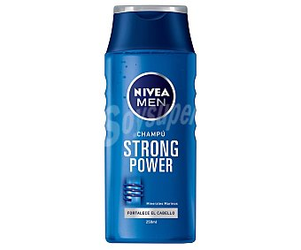 Nivea For Men Champú Strong Power con minerales marinos para cabello frágil Frasco 250 ml