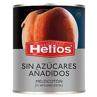Helios Melocotón extra en almíbar en mitades sin azúcares añadidos Envase 480 g neto escurrido