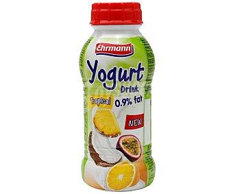 Ehrmann Yogur líquido con sabor a frutas tropicales (coco, mango y fruta de la pasión) 310 ml