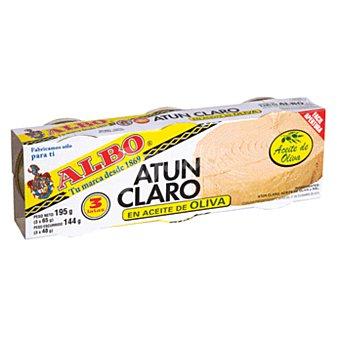 Albo Atun claro en aceite de oliva pack de 3 latas x 48 grs Pack de 3 latas x 48 grs