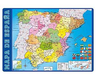 ERIK Tapete escolar mapa de España de 34.5x49.5 centímetros 1 unidad