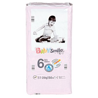 Baby Smile Pañales junior paquete 17-28 kgs 50 ud