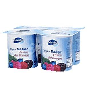Sandra Yogur sabor frutas del bosque Pack de 4x125 g