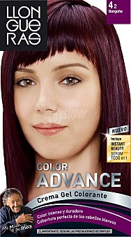 Llongueras Tinte coloración permanente Nº 04.2 borgoña u