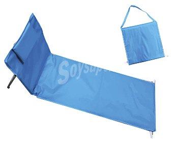 Euraspa Hamaca plegable con almohada para jardín, piscina o playa, euraspa