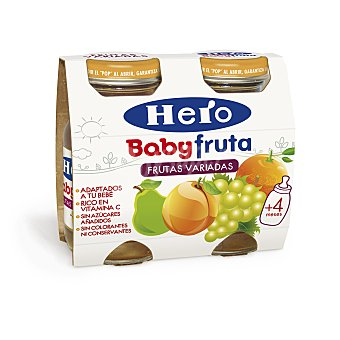 Hero Baby Zumito de Frutas Variadas 2x130g