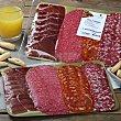 Tabla de 4 curados (jamón, salchichón, chorizo y salami) Bandeja de 300 g Abrilisto
