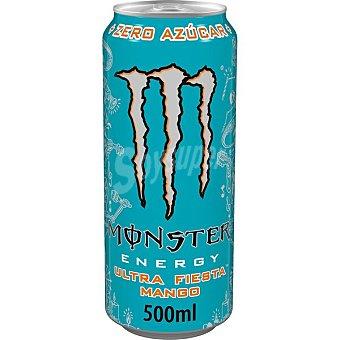 Monster Energy Ultra Fiesta Mango bebida energética sabor mango con taurina y ginseng Lata 50 cl