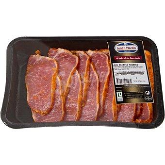 JULIAN MARTIN Lomo adobado de cerdo ibérico en filetes bandeja peso aproximado 600 g