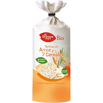 EL GRANERO tortitas de arroz y 7 cereales ecológicas envase 100 g