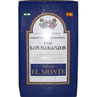 EL MONTE Los naranjos fino cosecha propia D.O. Montilla Moriles  envase 5 l