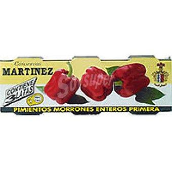 Martinez Somalo Pimiento rojo entero Pack 3x80 g