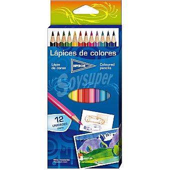 Hipercor Estuche con 12 lápices de colores