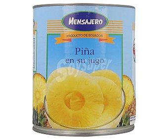 Mensajero Piña en rodajas en su jugo 490 gr