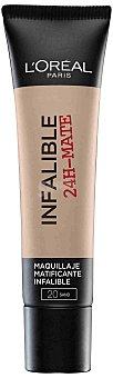 L'Oréal Base de maquillaje infalible 24h mate nº 020 1 ud