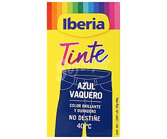 Iberia Tinte para ropa de color azul vaquero (permite teñir a baja temperatura 40ª) 1 ud