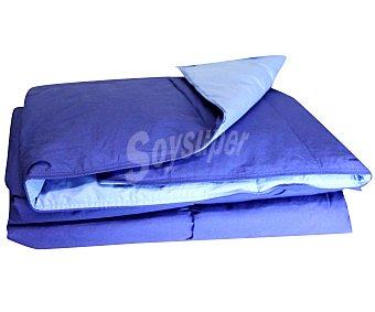 AUCHAN Relleno nórdico de pluma de pato, 90 centímetros, color azul, densidad: 375 gramos/m² 1 Unidad