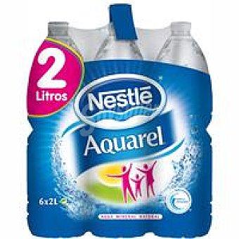 Aquarel Nestlé Agua mineral natrual Pack 6x2 litros