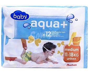 BABY AQUA + Pañales bañador unisex talla mediana, para niños de 12 uds