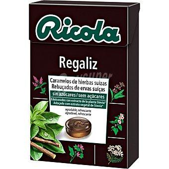 Ricola Caramelos balsámicos de hierbas suizas sin azúcar sabor regaliz Caja 50 g