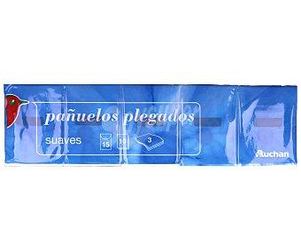 Auchan Pañuelos de celulosa Paquete de 15 unidades