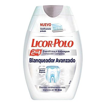 Licor del Polo DentÍfrico 2en1 dientes blancos 75 ml