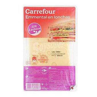 Carrefour Queso emmental loncheado 150 g