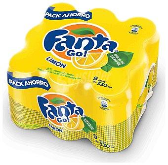 Fanta Refresco limón con gas Lata Pack 9 x 330 cc - 2970 cc