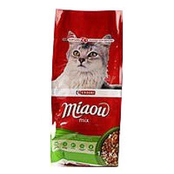 Eroski Alimento de ternera-verduras-buey Miaow 1,5 kg