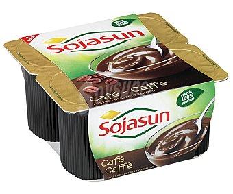 Sojasun Postre fresco de soja y café 4 unidades de 100 gramos
