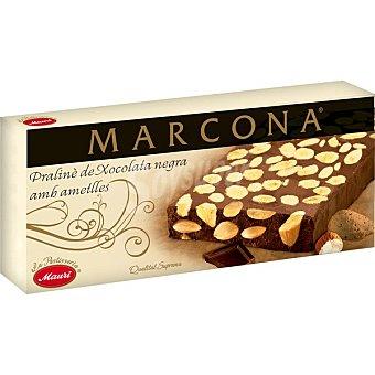 Marcona Turrón de chocolate negro con almendras Sin Gluten Calidad Suprema Tableta 200 g