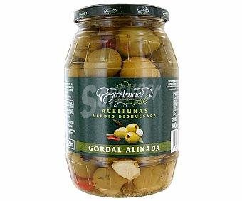 Excelencia Aceitunas verdes gordal aliñadas sin hueso Frasco de 400 grs