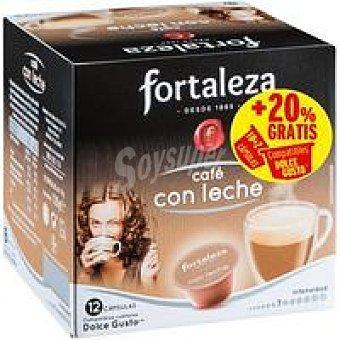 CDG FORTALEZA Café con leche Caja 12 monodosis