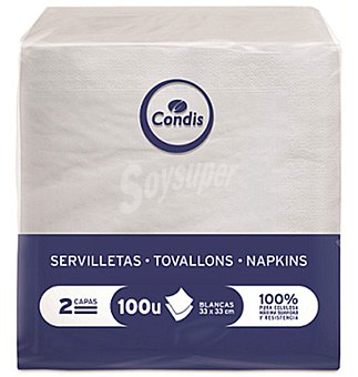 Condis Servilletas 33X33 2 capas 100 UNI