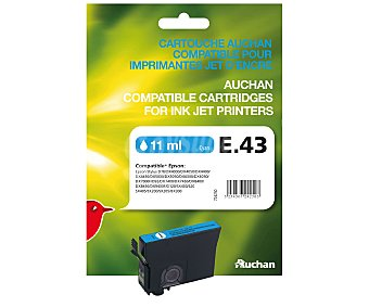 Auchan Cartucho E43 Cian 1u