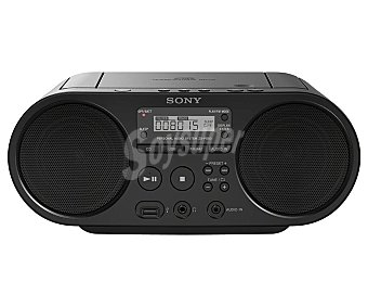 Sony Reproductor de CD portátil ZS-PS50, radio am/fm, usb, audio-in radio am/fm, usb, audio-in