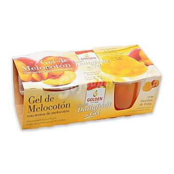 Golden Gel de melocotón con trozos de melocotón Golden 240 g