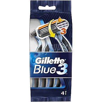 Gillette Blue III maquinilla de afeitar desechable 3 cuchillas blister 4 unidades 4 unidades